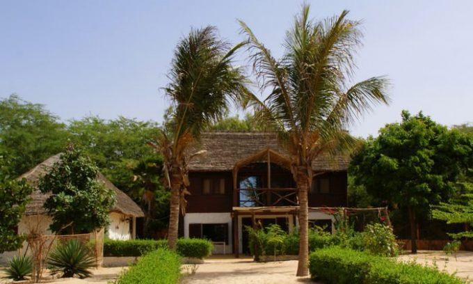 Bungalows de vacances à l'embouchure du Sénégal